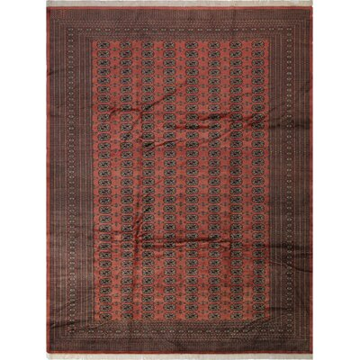 One-of-a-Kind Tanaquil Hand-Knotted Wool Rose/Tan Area Rug