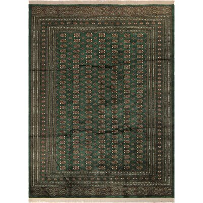 One-of-a-Kind Tanaquil Hand-Knotted Wool Green/Gold Area Rug