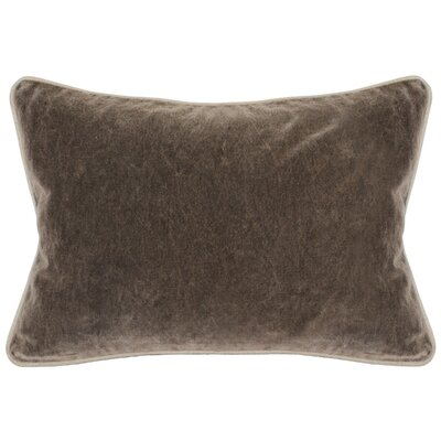 Wickline Cotton Throw Pillow Color: Brown