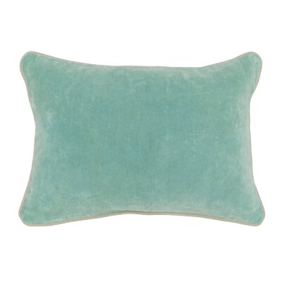 Wickline Cotton Throw Pillow Color: Turquoise