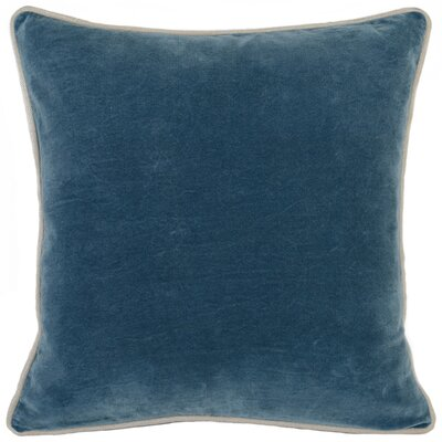 Wickline Cotton Throw Pillow Color: Marine Blue