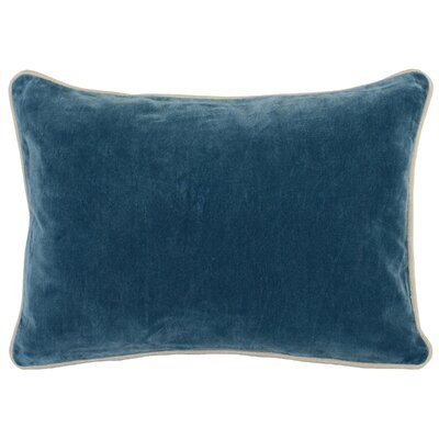 Wickline Cotton Throw Pillow Color: Marine Blue