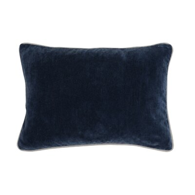 Wickline Cotton Throw Pillow Color: Navy