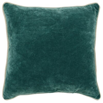 Wickline Cotton Throw Pillow Color: Green