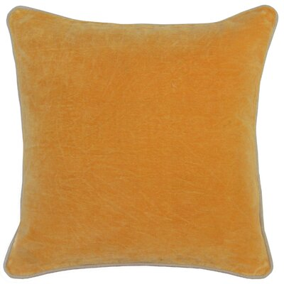 Wickline Cotton Throw Pillow Color: Orange