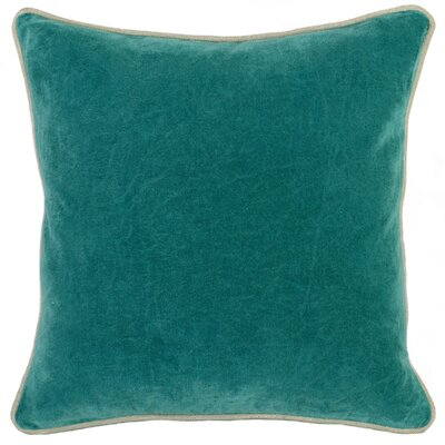 Wickline Cotton Throw Pillow Color: Teal