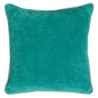 Wickline Cotton Throw Pillow Color: Pacific Blue