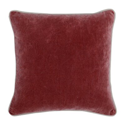 Wickline Cotton Throw Pillow Color: Red