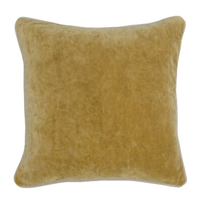 Wickline Cotton Throw Pillow Color: Gold