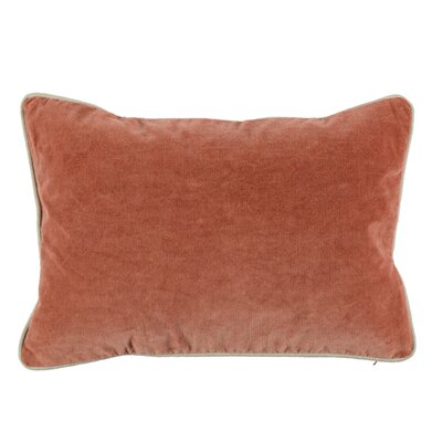 Wickline Cotton Throw Pillow Color: Terra Cotta