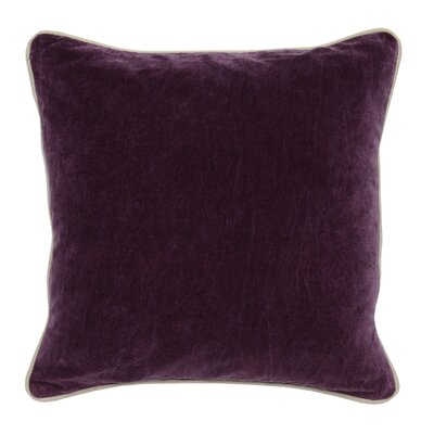 Wickline Cotton Throw Pillow Color: Purple