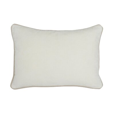 Wickline Cotton Throw Pillow Color: Ivory