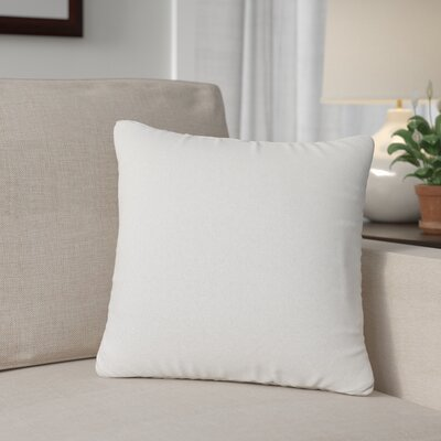 Outdoor Throw Pillow Color: Sail White