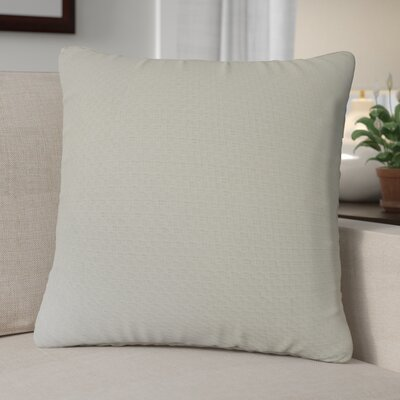 Kenric Diamond Stitch Cotton Throw Pillow Color: Natural