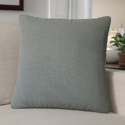 Kensington Moss Knit Cotton Throw Pillow Color: Dark Gray
