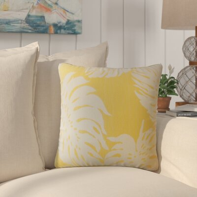 Maiah Floral Down Filled Throw Pillow Size: 18 x 18, Color: Sunshine