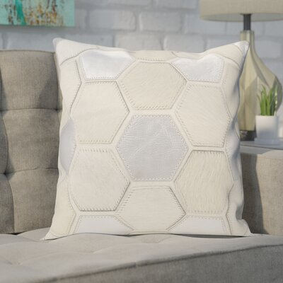 Ince Leather Throw Pillow Color: Silver