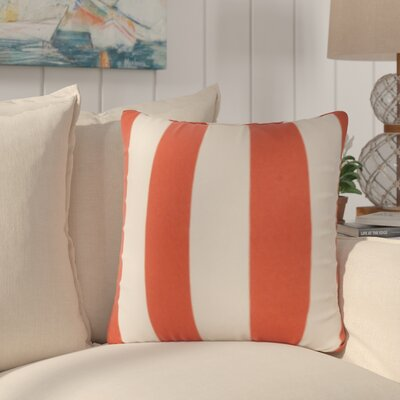 Merrill Outdoor Throw Pillow Color: Orange/Stark White