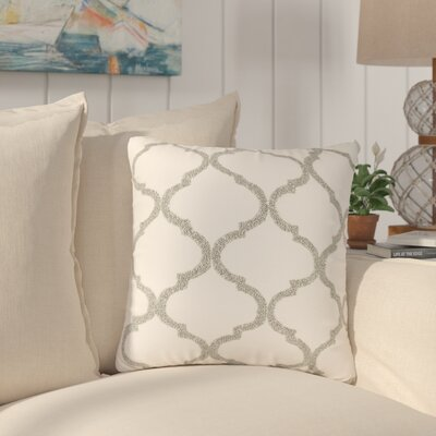 Hensen Moroccan Design Beaded 100% Cotton Throw Pillow Color: Pewter