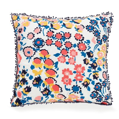 Petite Floral Cotton Throw Pillow