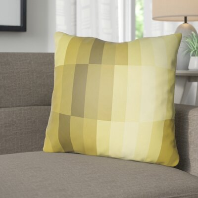 Wakefield Throw Pillow Size: 18 H x 18 W x 4 D, Color: Yellow