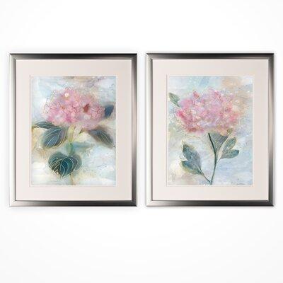 'Stained Glass Hyrandgea' 2 Piece Framed Print Set 136E0BCCF33F4518B214AE293F0968E2