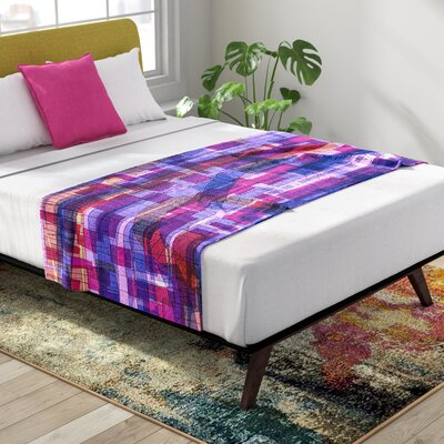 Frederic Levy-Hadida Squares Traffic Bed Runner Color: Pink