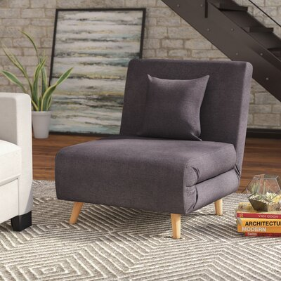 Wolfe Convertible Chair Upholstery: Charcoal