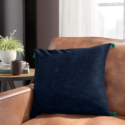 Armina Throw Pillow Color: Navy, Filler: Polyester