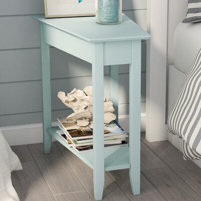 Randel Wedge End Table Color: Sea Foam