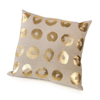 Marro Foil Circles Cotton Throw Pillow Color: Gold