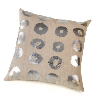 Marro Foil Circles Cotton Throw Pillow Color: Silver