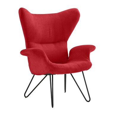 Delmont Armchair Upholstery: Red