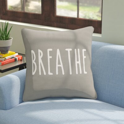 Carnell Breathe Cotton Throw Pillow Cover Color: Gray/ White