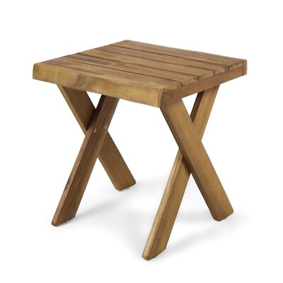 Indoor Farmhouse Acacia Wood End Table Color: Sandblast Teak