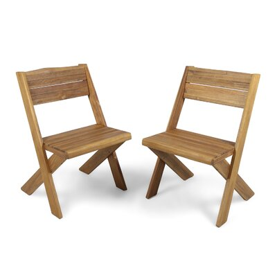 Indoor Farmhouse Solid Wood Dining Chair Color: Sandblast Teak