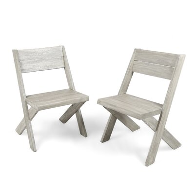 Indoor Farmhouse Solid Wood Dining Chair Color: Sandblast Light Gray