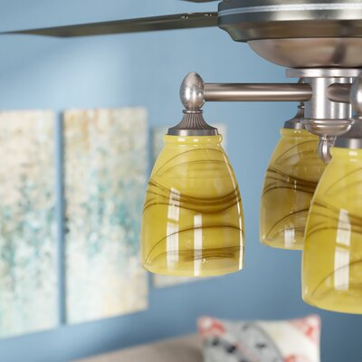 4.1 Glass Oval Ceiling Fan Fitter Shade