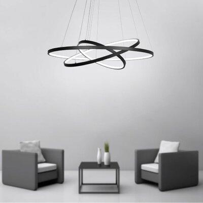 Derrow 3-Light LED Geometric Pendant Finish: Black