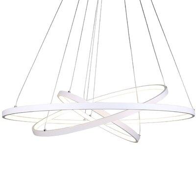 Derrow 3-Light LED Geometric Pendant Finish: White