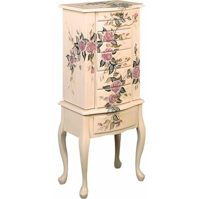 Weintraub Wooden Fairy Jewelry Armoire