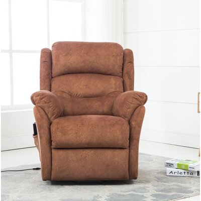 Downes Power Lift Assist Recliner Upholstery: Bronze