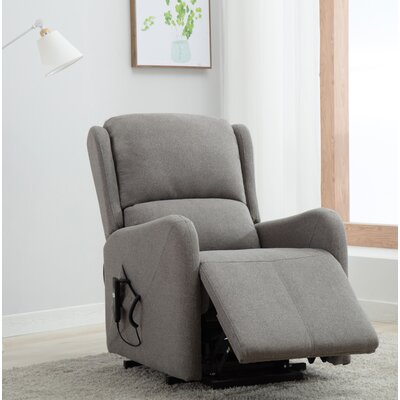 Downes Power Lift Assist Recliner Upholstery: Gray