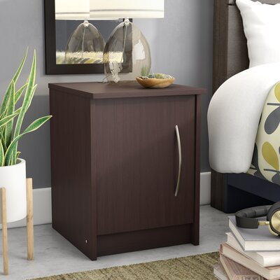 Karis Nightstand Color: Espresso