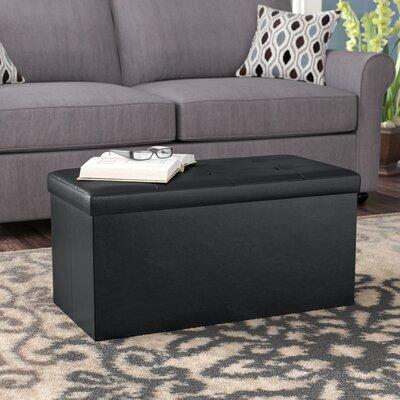 Rebersburg Storage Ottoman Upholstery: Black