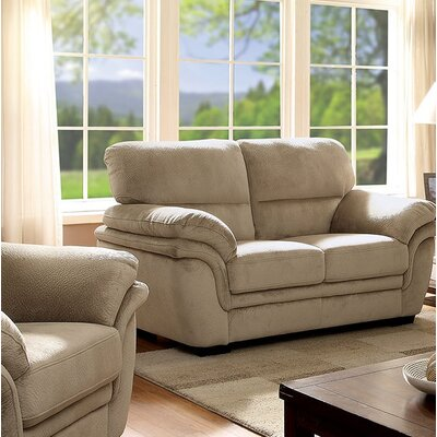 Hollifield Loveseat Upholstery: Light Brown