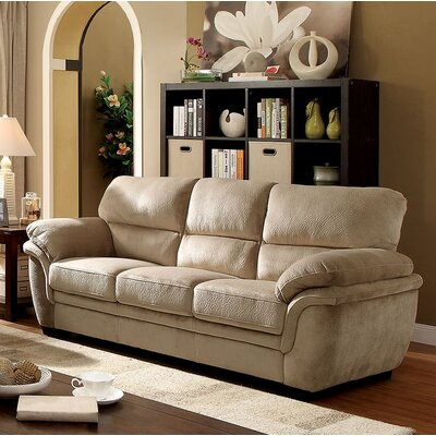 Hollifield Sofa Upholstery: Light Brown