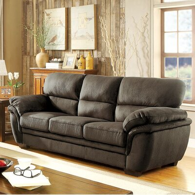 Hollifield Sofa Upholstery: Dark Brown