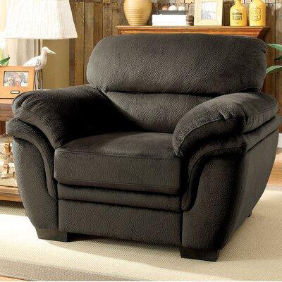 Hollifield Armchair Upholstery: Dark Brown