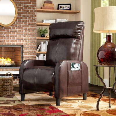 Irwin Manual Recliner Upholstery: Dark Brown
